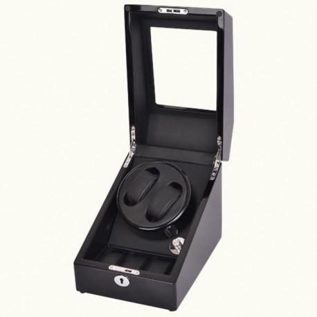 Watch Winder - 2 + 3 Negru Dispozitiv pentru intoarcere ceasuri
