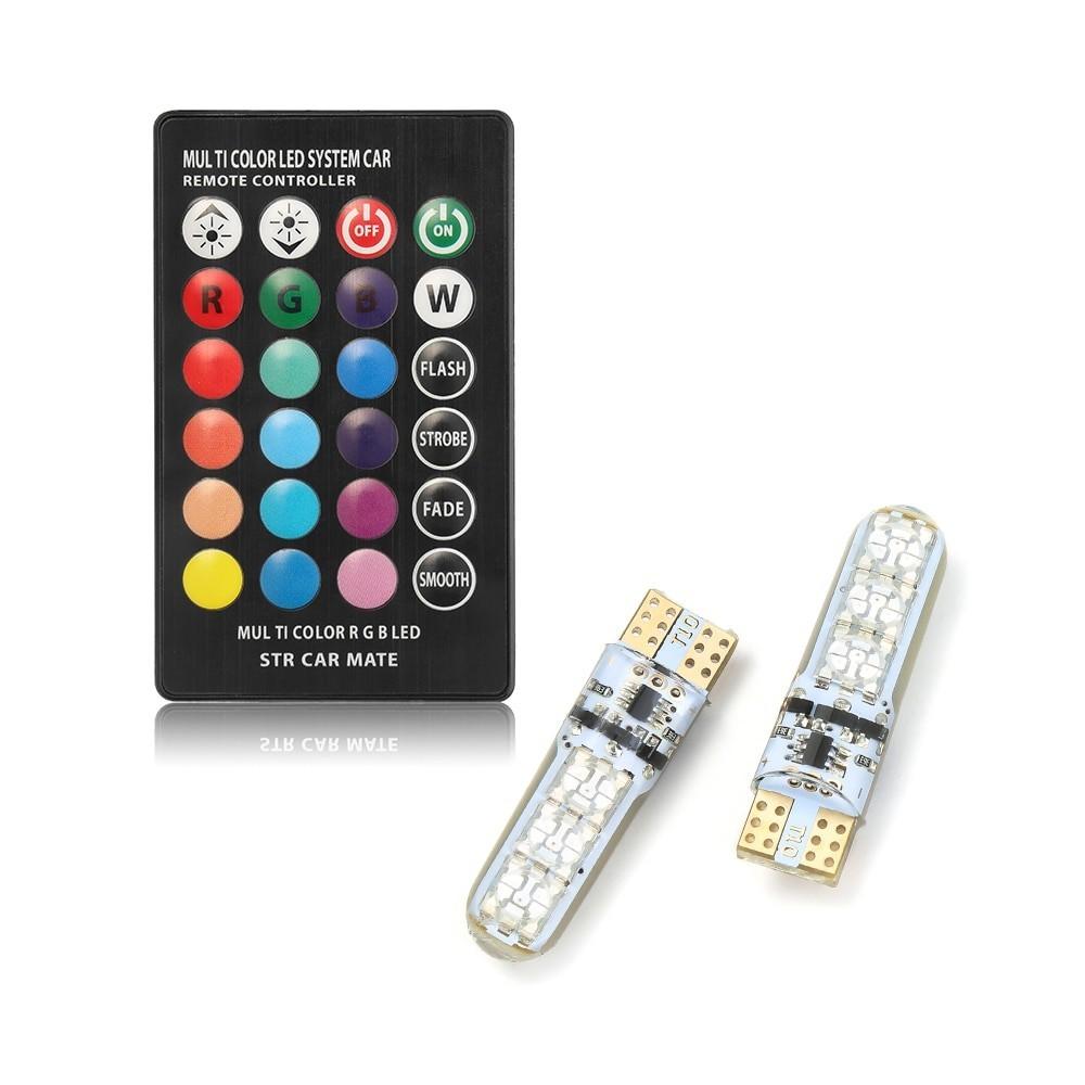 Set becuri led T10, RGB, cu schimbare lumina din telecomanda imagine techstar.ro 2021