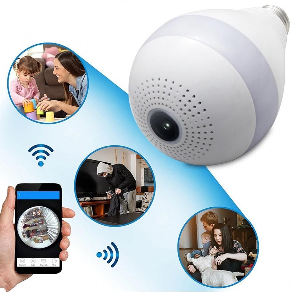 Camera panoramica in forma de bec, Wifi Smart, V380, alba imagine techstar.ro 2021