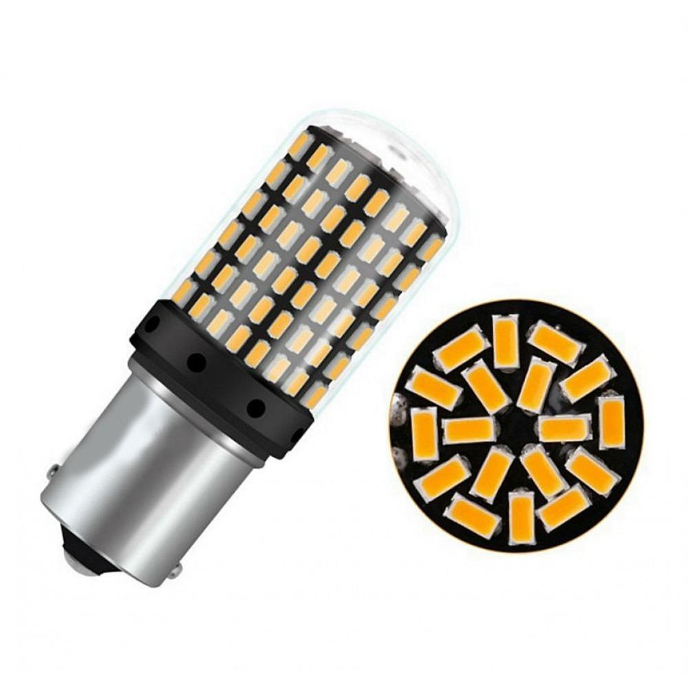 Set becuri LED BA15S, 144 SMD, 4014, CAN-BUS, fara polaritate