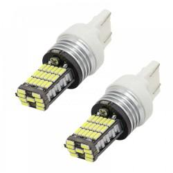 Set becuri LED T20, 4014, 45 SMD CAN-BUS, doua faze