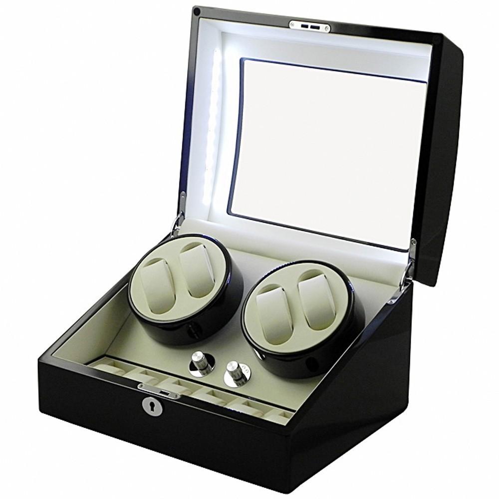Dispozitiv Intors Ceasuri Automatice Watch Winder - 4 + 6 Spatii imagine techstar.ro 2021