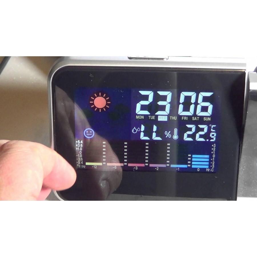 Ceas cu Afisaj Ora LCD Data Umiditate si Temperatura imagine techstar.ro 2021