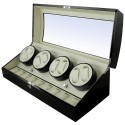Watch Winder 8 + 12 spatii - Black Piano