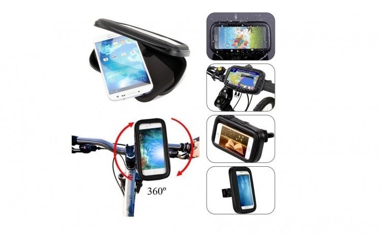 Suport telefon universal, marime XL pentru bicicleta/motocicleta, Impermeabil imagine techstar.ro 2021