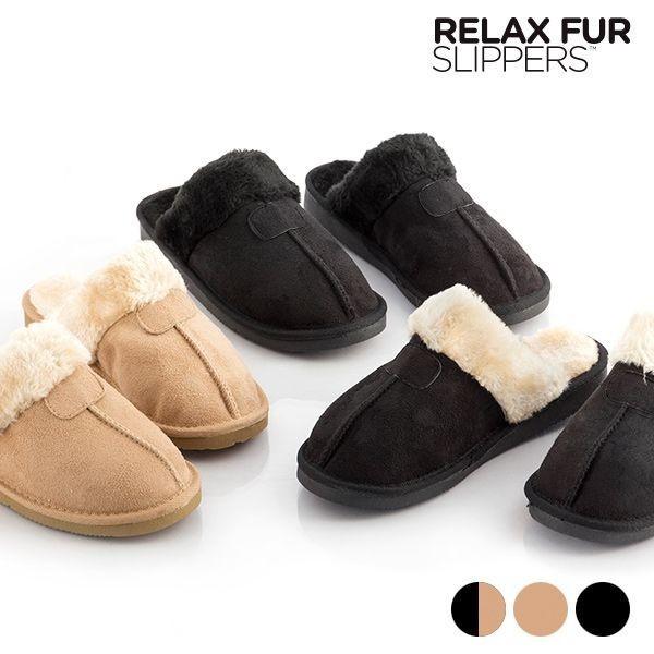 Papuci de casa cu spuma de memorie RELAX FUR imagine techstar.ro 2021