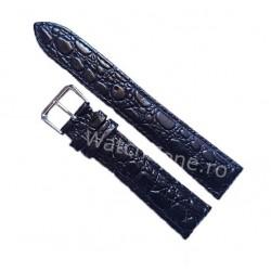 Curea De Ceas Piele Neagra Textura Crocodil 20mm