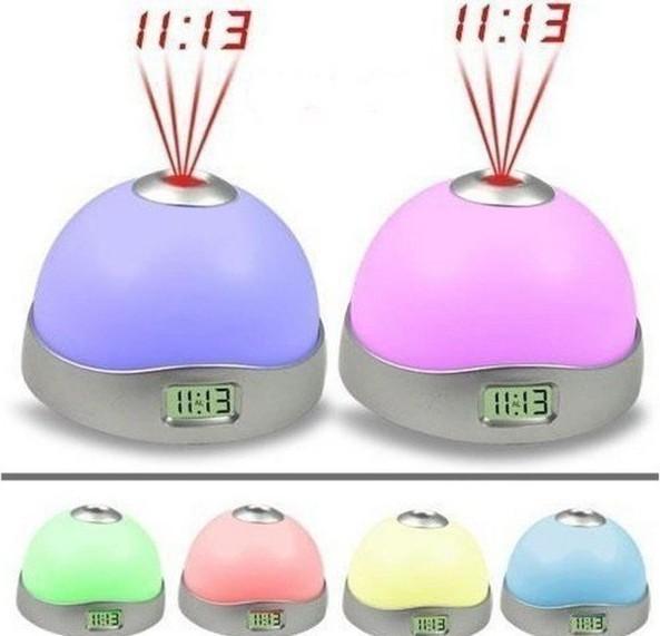 Ceas digital multicolor cu alarma si proiectie ora pe tavan poza 2021