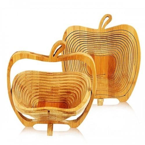 Cos pliabil din bambus in forma de mar, pentru fructe si legume imagine techstar.ro 2021