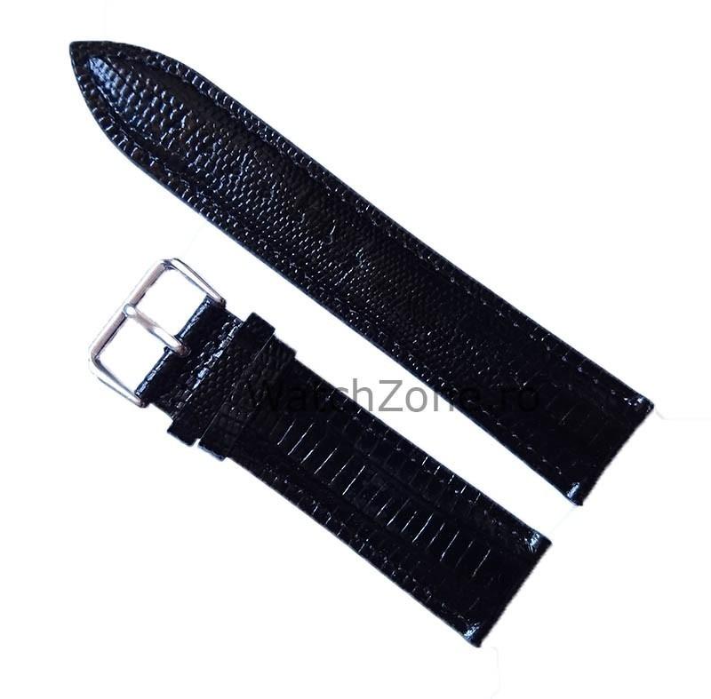 Curea De Ceas Neagra Textura Fina Sarpe imagine