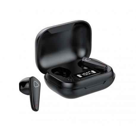Casti Smart Techstar® TWS S21 , Wireless, Bluetooth V5.0, HD Audio, Touch, IPX5, iOS, Android, 300mAh, Negru
