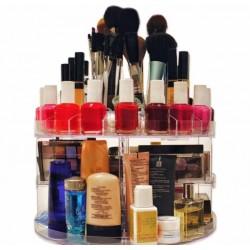 Organizator rotativ pentru cosmetice, 360 grade