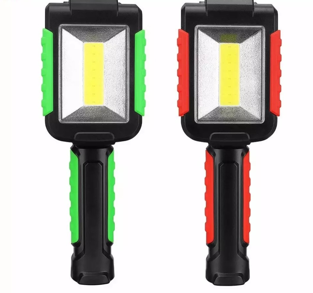 Lanterna atelier auto KR-1508 Super Bright LED COB / lamp magnetica (10SMD) 1w cu trei baterii +cadou imagine techstar.ro 2021