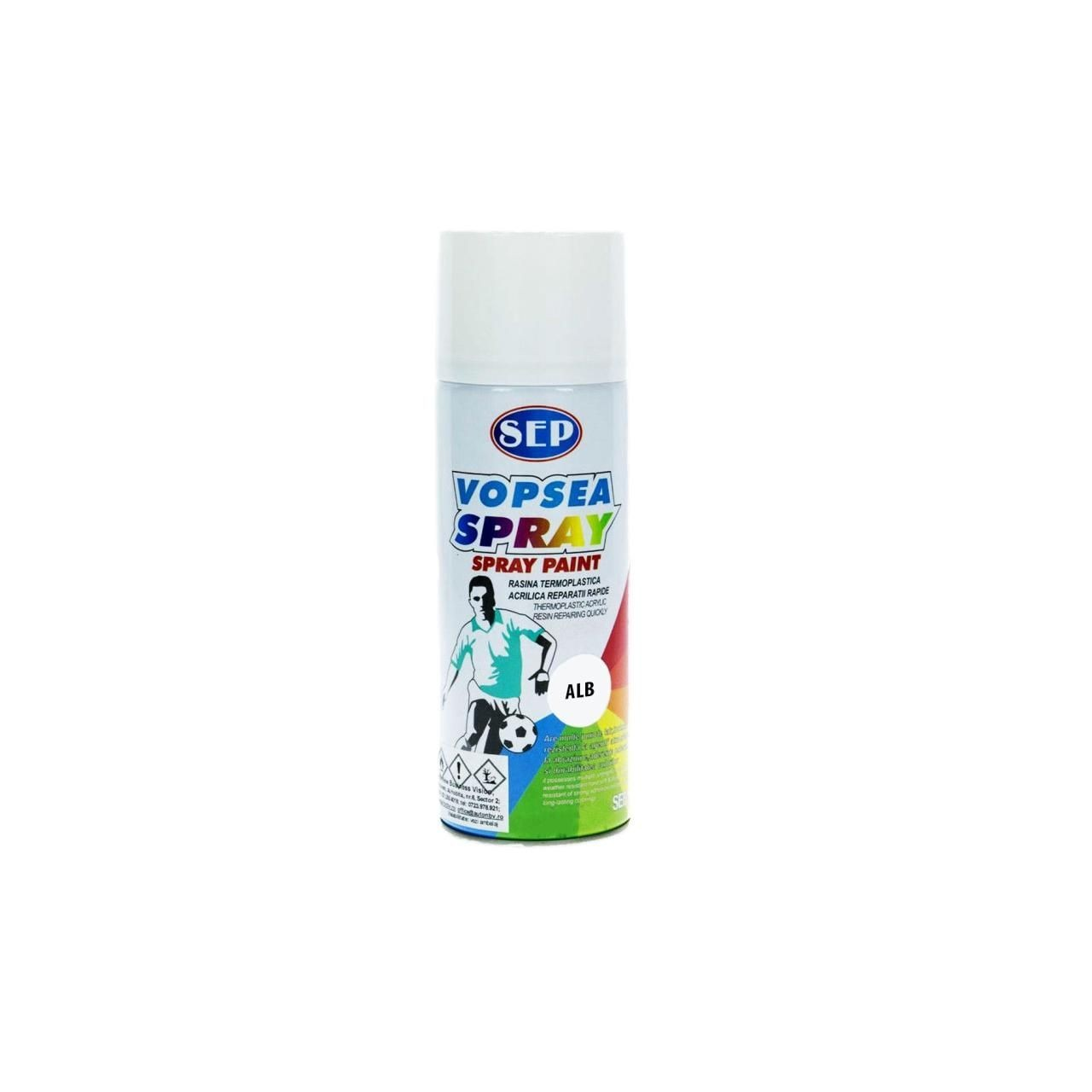 SEP Spray vopsea lemn si metal, Alb 10, 400 ml + CADOU imagine techstar.ro 2021