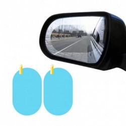 Set 2 Folii Oglinda Auto, Universala, Transparenta, Anti Aburire, Anti Ceata, Anti Ploaie, 145x100 mm + CADOU