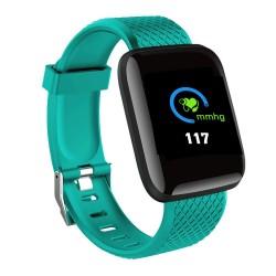 Ceas Smartwatch Techstar® D13 Verde, Bluetooth 4.0, Compatibil Android & iOS, Unisex, Rezistent la Apa,