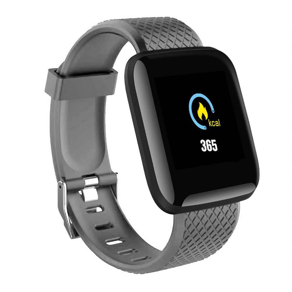 Ceas Smartwatch Techstar® D13 Gri, Bluetooth 4.0, Compatibil Android & iOS, Unisex, Rezistent la Apa, poza 2021