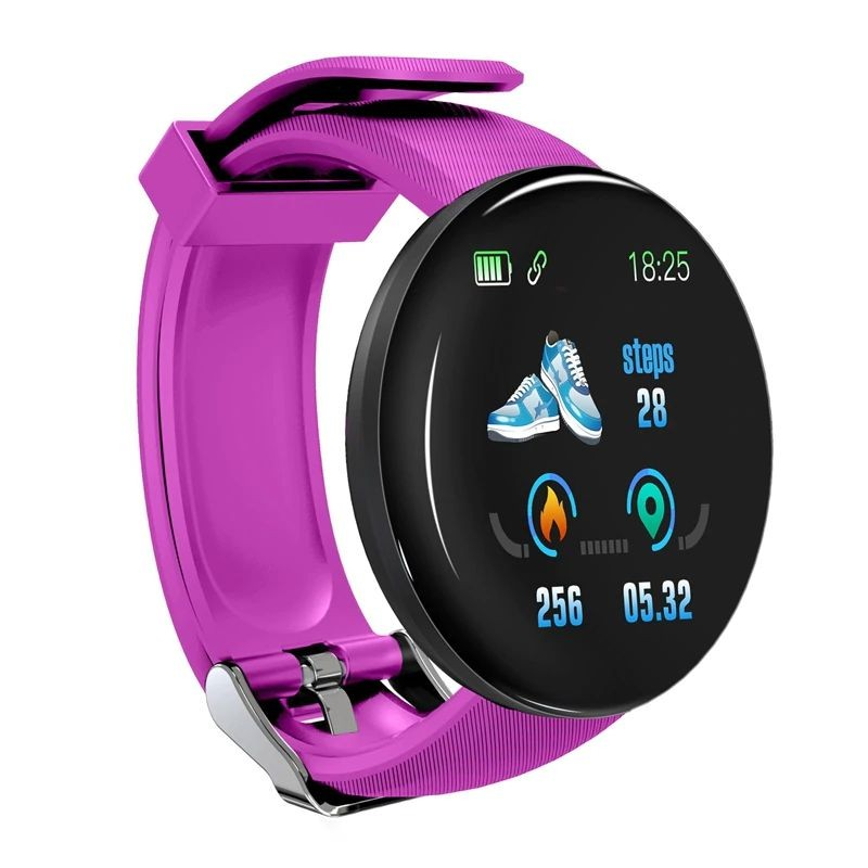 Bratara Fitness Smartband Techstar® D18 Waterproof IP65, Incarcare USB, Bluetooth 4.0, Display Touch Color OLED, Mov poza 2021