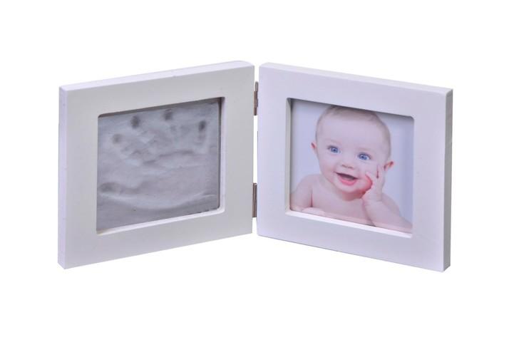 Kit amprenta pentru bebelusi, rama foto , alb , 1 mulaj , 2 D imagine techstar.ro 2021