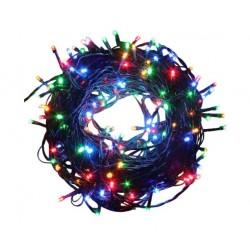 Instalatie de Craciun 200 LED Liniara, 15M Lungime + 0.6M Cablu Alimentare, Multicolor IP44