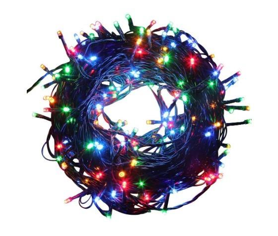 Instalatie de Craciun 200 LED Liniara, 15M Lungime + 0.6M Cablu Alimentare, Multicolor IP44 imagine techstar.ro 2021