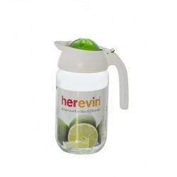 Carafa din sticla cu capac si maner din plastic , 1.50 l , Herevin HR111265