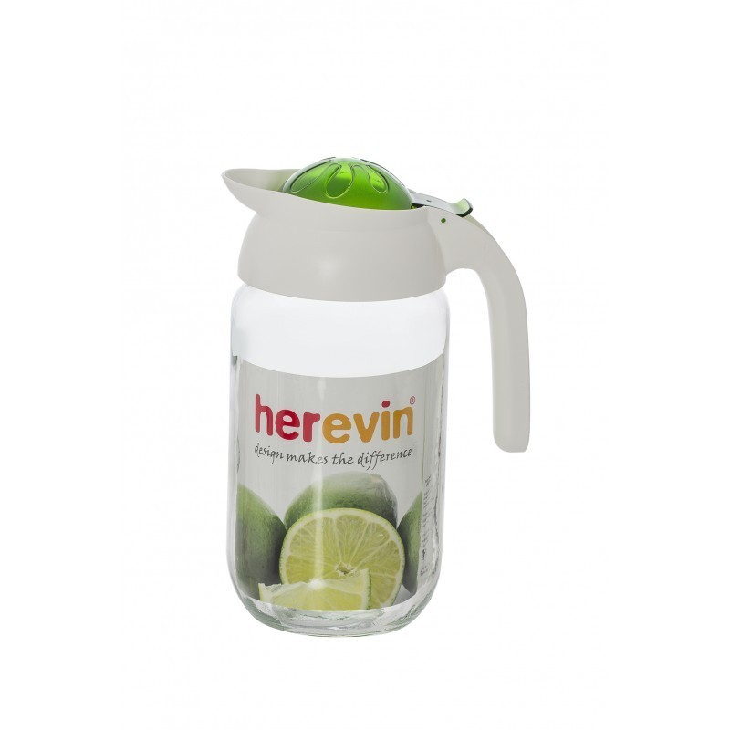 Carafa din sticla cu capac si maner din plastic , 1.50 l , Herevin HR111265 imagine techstar.ro 2021