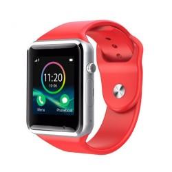 Ceas Smartwatch Techstar® A1, Bluetooth, Compatibil SIM si MicroSD, Rosu
