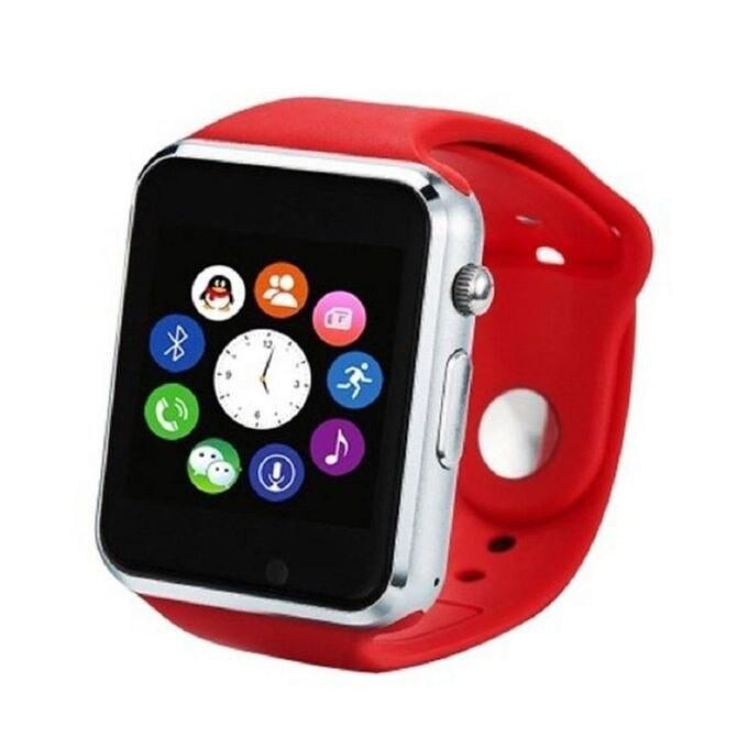 Ceas Smartwatch Techstar® A1, Bluetooth, Compatibil SIM si MicroSD, Rosu poza 2021