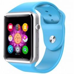 Ceas Smartwatch Techstar® A1, Camera Foto, Ecran 1.54inch, Bluetooth, Compatibil SIM si MicroSD, Apelare, Albastru