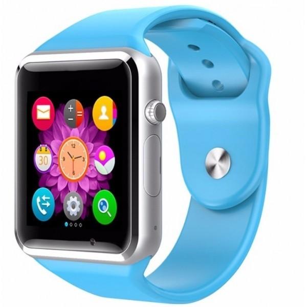 Ceas Smartwatch Techstar® A1, Bluetooth, Compatibil SIM si MicroSD, Albastru poza 2021