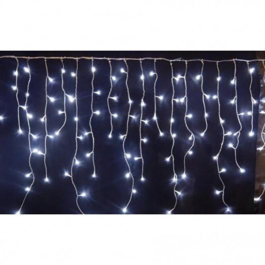 Instalatie Craciun 8 metri, franjuri cu LED-uri, ALB, ALBASTRU, imagine techstar.ro 2021
