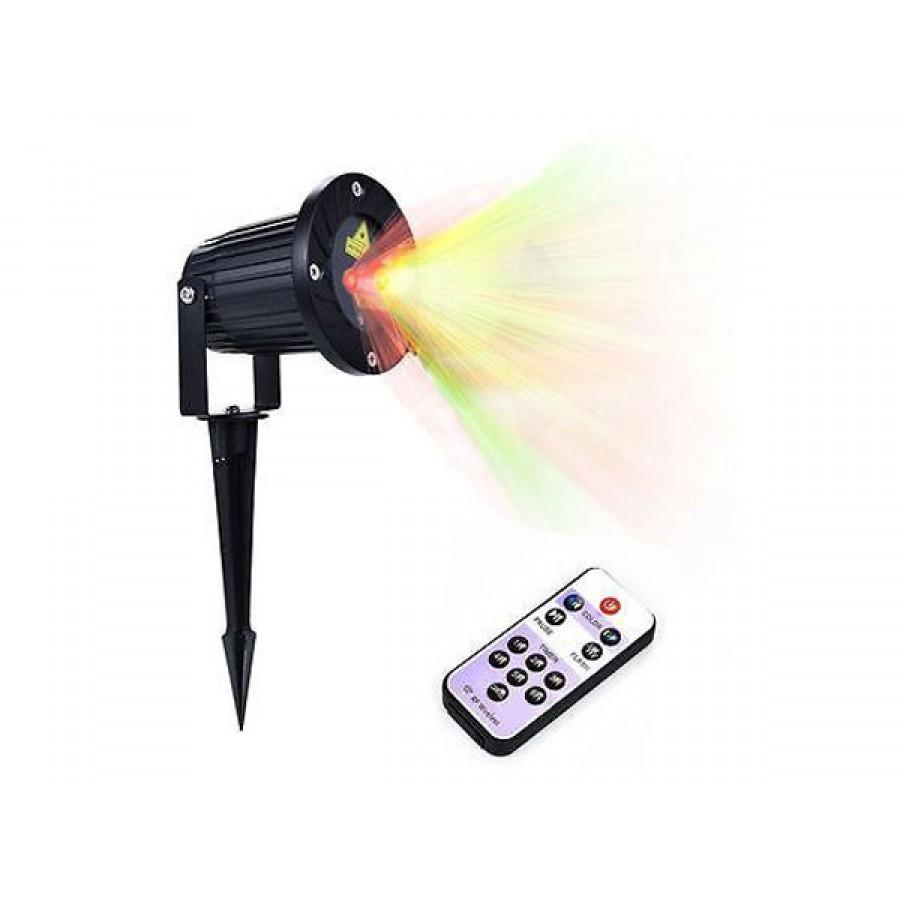 Laser pentru exterior cu senzori de lumina, telecomanda, si joc de lumini