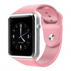 Ceas Smartwatch Techstar® A1, Bluetooth, Compatibil SIM si MicroSD, Roz