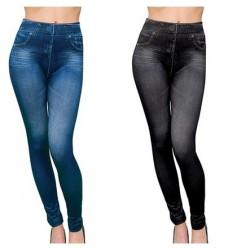 Pantaloni tip colanti imitatie blug 1 + 1