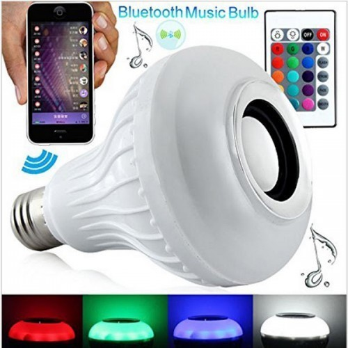 Bec bluetooth LED cu boxa, jocuri de lumini si telecomanda imagine techstar.ro 2021