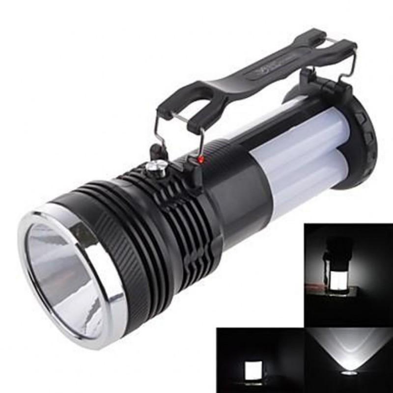 Lanterna Cu LED, Incarcare Solara Sau La Priza LED CREE