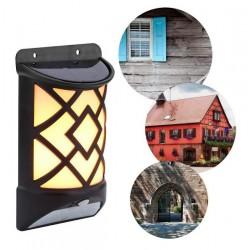 Lampa de gradina, solara, cu senzor de miscare, efect de flacara