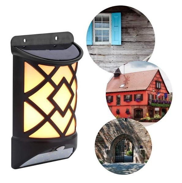 Lampa de gradina, solara, cu senzor de miscare, efect de flacara imagine techstar.ro 2021