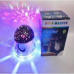 Lampa rotativa proiector stele cu boxa si Bluetooth