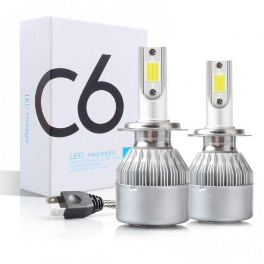 Set 2 LED-uri auto H7 36w/3800 Lumeni 6000K C6, AUTO, 12 Volti imagine techstar.ro 2021
