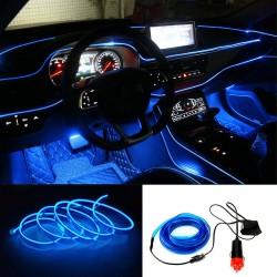 Banda LED Auto de Interior, Albastra + Droser 12V, 2 Metri
