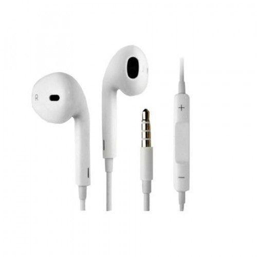 Casti audio cu microfon si cu mufa Jack de 3,5 mm, Alb, Blister+cadou