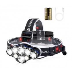 Lanterna de cap premium cu 8 LED-uri, rezistenta la apa