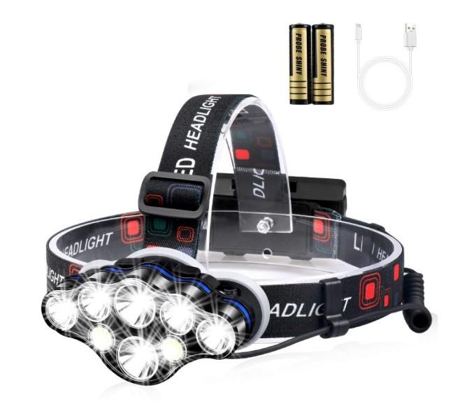 Lanterna de cap premium cu 8 LED-uri, rezistenta la apa imagine techstar.ro 2021
