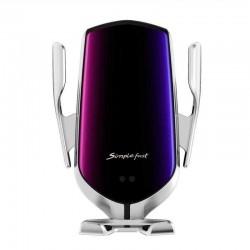 Suport Auto, Incarcare Rapida Wireless STW04 Senzor Inteligent R1, Material Rezistent, Silver