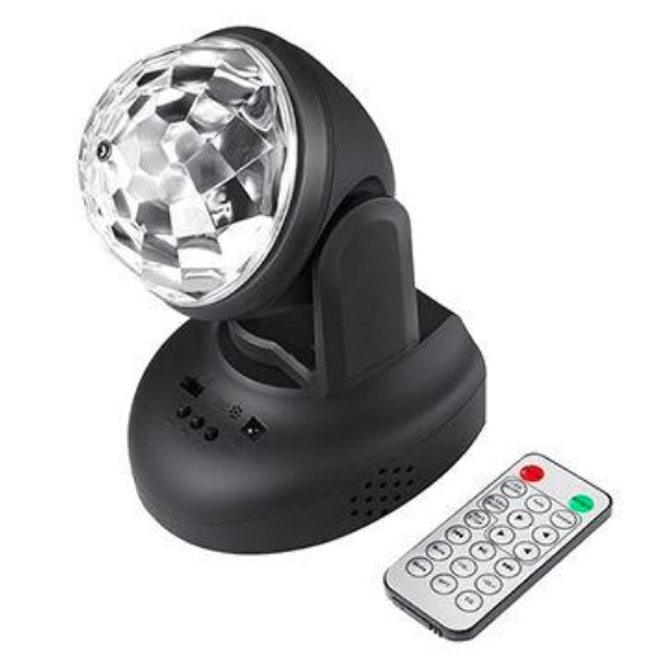 Proiector rotativ LED disco RGB, telecomanda, MP3, USB imagine techstar.ro 2021