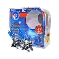 Set 2 becuri halogen auto Pegasus Xenon Look 5000k / 100w /12v H4