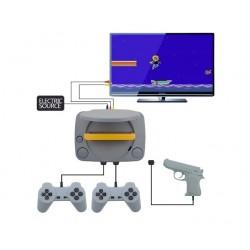 Consola de Jocuri Video Retro, SUPER-8BIT-GAME, cu 2 Joystick-uri + 1 Arma Laser Incluse