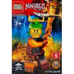 Mini Figurina, de Tip Lego, Ninjago, FLINTLOCKE